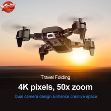 WIFI FPV 4K Dual Camera Folding Aerial RC Quadcopter Drone 2.4G 20 MINS 150M APP