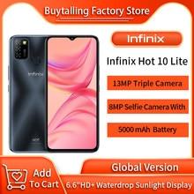 100% Originele Infinix Hot 10 Lite Global Versie Mobilephone 6.6 Inch Helio A20 2Gb 32Gb Gezicht Unlock 13MP triple Camera