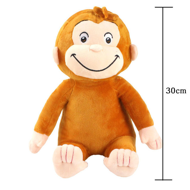 4 Styles 30cm Curious George Plush Toys Doll Boots Monkey Plush Stuffed Animal Toys For Boys and Christmas Birthday Gifts
