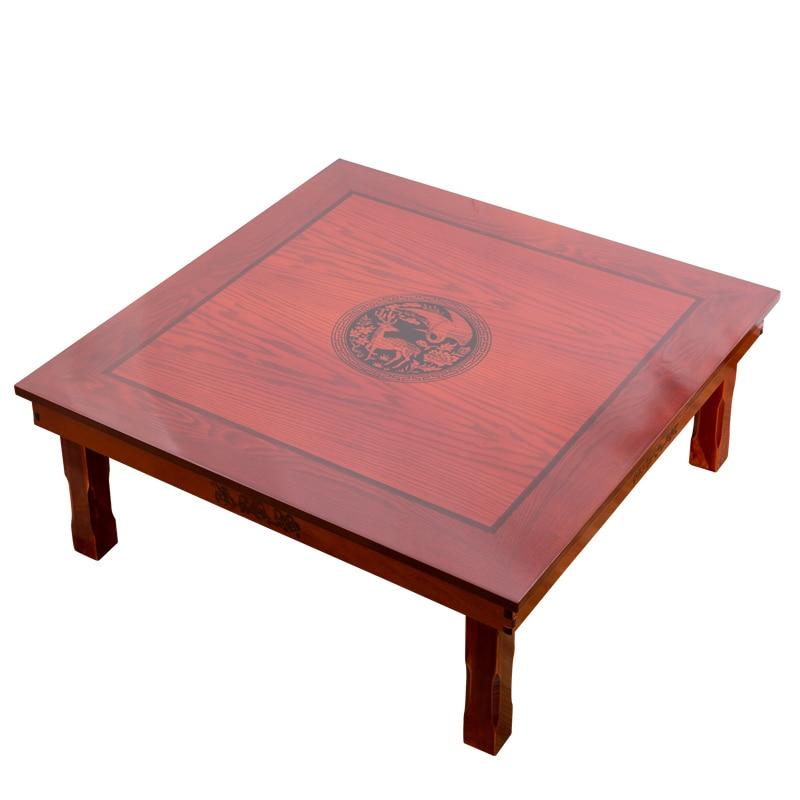 Firkantet 80X80 cm koreansk gulvbord Klappeben Luksus Antik - Møbel - Foto 5