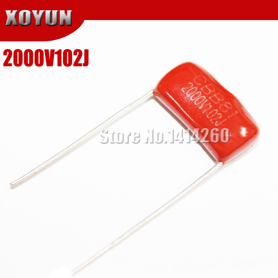 10PCS CBB81 2000V102J 2000V1NF 2000V1000PF Pitch 15mm 2000V 102J CBB Polypropylene Film Capacitor