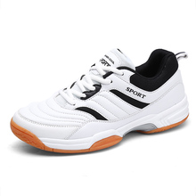 2021 Hot Sale Men Sport Table Tennies Shoes Outdoor Male Gym Trainer Black Red Lightweight Man Badminton Sneakers Big Size