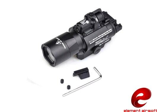 Z TAC Surefir X400 очень легкое пуховое красный лазерный светодиодный фонарь для ружья EX367 оборудование для оптоволоконной связи