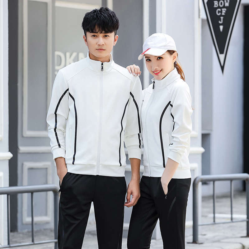 2019 Spring New Style Men Korean-style Fashion Casual Students Sports Set Men And Women Spring Jogging Suits Couple Clothes
