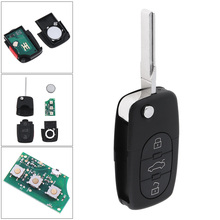 все цены на 4 Buttons Flip Uncut Key Entry Remote Control Fob 4D0837231E For Audi A4 A6 A8 S4 TT S4 S6 S8 онлайн