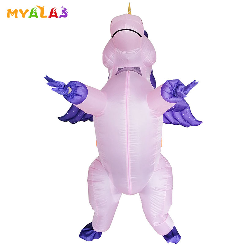 Pegasus Unicorn Costume Carnival Dress Girl Made In Italy