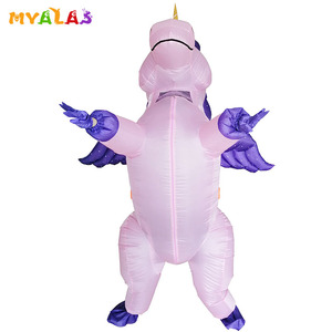 Image 2 - Unicorn Inflatable Costumes For Adult Women Men Pegasus Halloween Horse Pony Carnival Teen Cosplay Party Full Body Outfit Suit