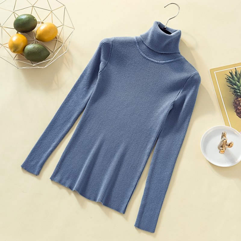 Women Sweaters And Pullovers Knit  Gray Long Sleeve Sweater Female Jumper Tops