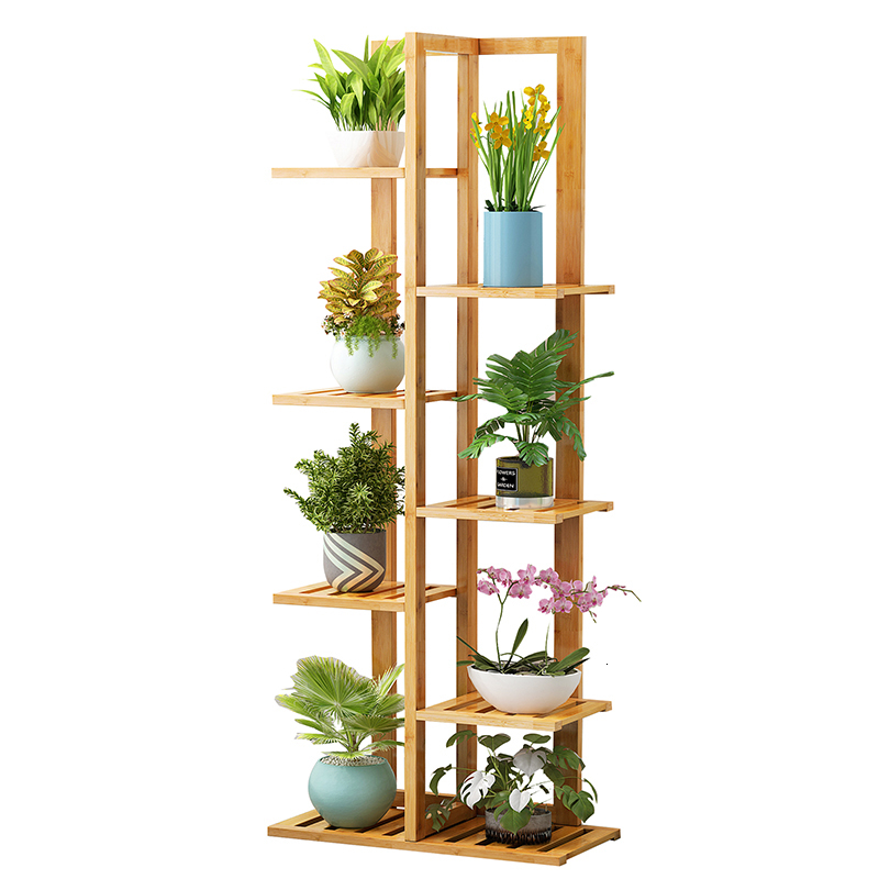 Northern Europe Indoor Household Balcony Decorate Shelf A Living Room Simplicity Flowerpot Multi-storey Pylons Green Luo
