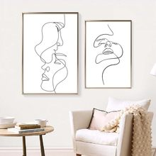 Abstract Lady Line Wall Art Canvas Painting Nordic Wall Art Figure Body Posters And Prints Modern Minimalist Living Room Decor