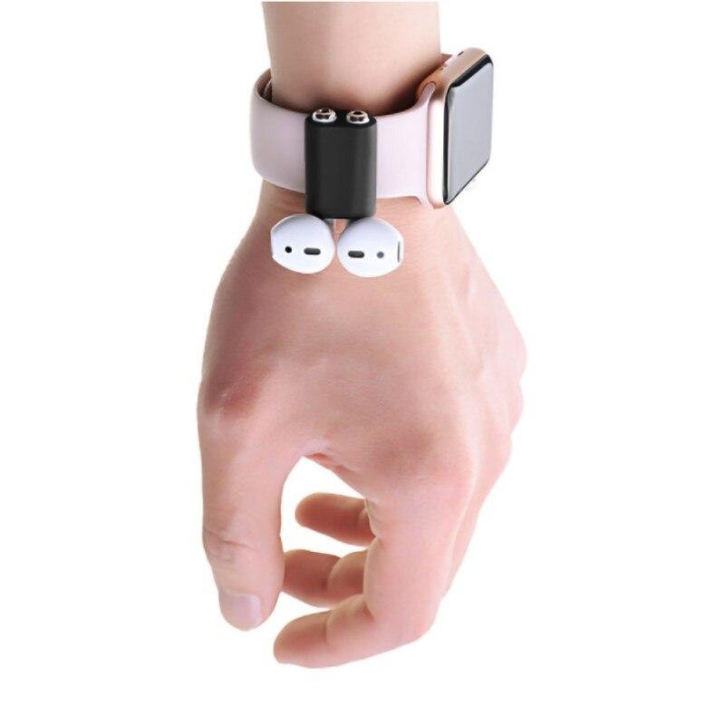 Nouveau support en silicone Anti-perte pour dosettes casque Portable bracelet de montre sangle support en silicone pour dosettes