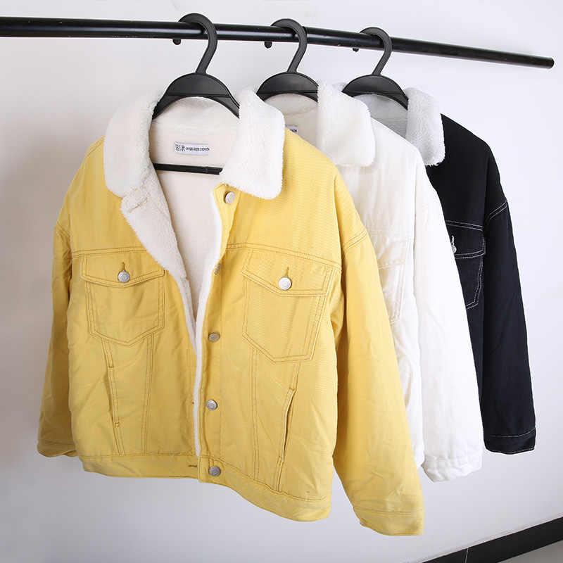 LEIJIJEANS nowy duży rozmiar plus aksamitna odzież dżinsowa modna, z klapami i aksamitną grubą zimową damską dżinsową kurtką trzy kolors9221r