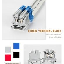 Connector Strips Rail-Terminal-Block UK2.5B Universal Din Screw 10pcs