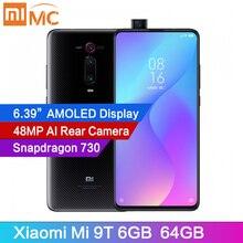 """Orijinal Xiaomi Mi 9T 6GB 64GB cep telefonu Snapdragon 730 AI 48MP AI arka kamera 4000mAh 6.39 """"AMOLED ekran küresel sürüm CE"""