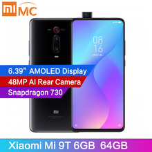 Оригинальный мобильный телефон xiaomi mi 9T, 6 ГБ, 64 ГБ, Snapdragon 730 AI, 48 МП, AI тыловая камера 4000 мАч, AMOLED дисплей 6,39 дюйма, глобальная версия CE