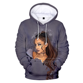 Fashion 3D Ariana Grande Hoodies Women Sweatshirts Kids Tops Hot Print Ariana Grande singer 3D Hoodies Women Autumn Pullovers фото