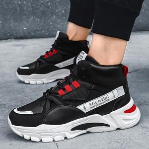 Image 3 - 2020 מותג אופנה גברים של נעליים יומיומיות נוח זכר נעליים חיצוני נעלי ספורט גברים פנאי שטוח Chaussure Homme גבוהה למעלה הנעלה