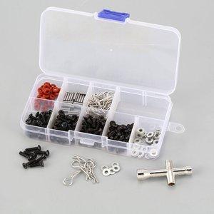 Универсальный ремонтный инструмент набор винтов аксессуары комплект коробка чехол для 1/10 HSP RC автомобиль Redcat Traxxas RC4WD TAMIYA CC01 SCX10