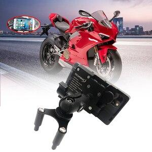 Mobile Phone USB Navigation Bracket Motorcycle USB Charging Mount fits For Ducati Panigale V4 V4S 2018 2019 2020