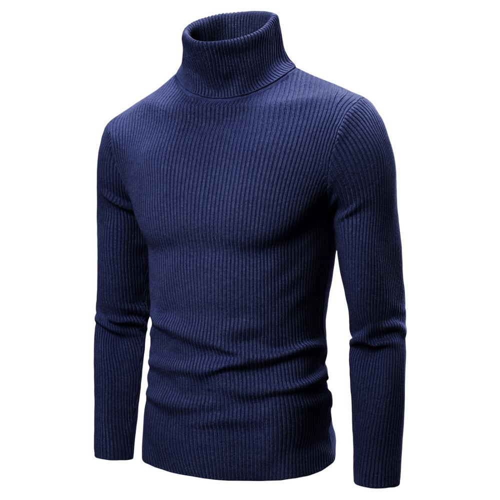 Autumn Sweaters Men Solid Color Casual Sweater
