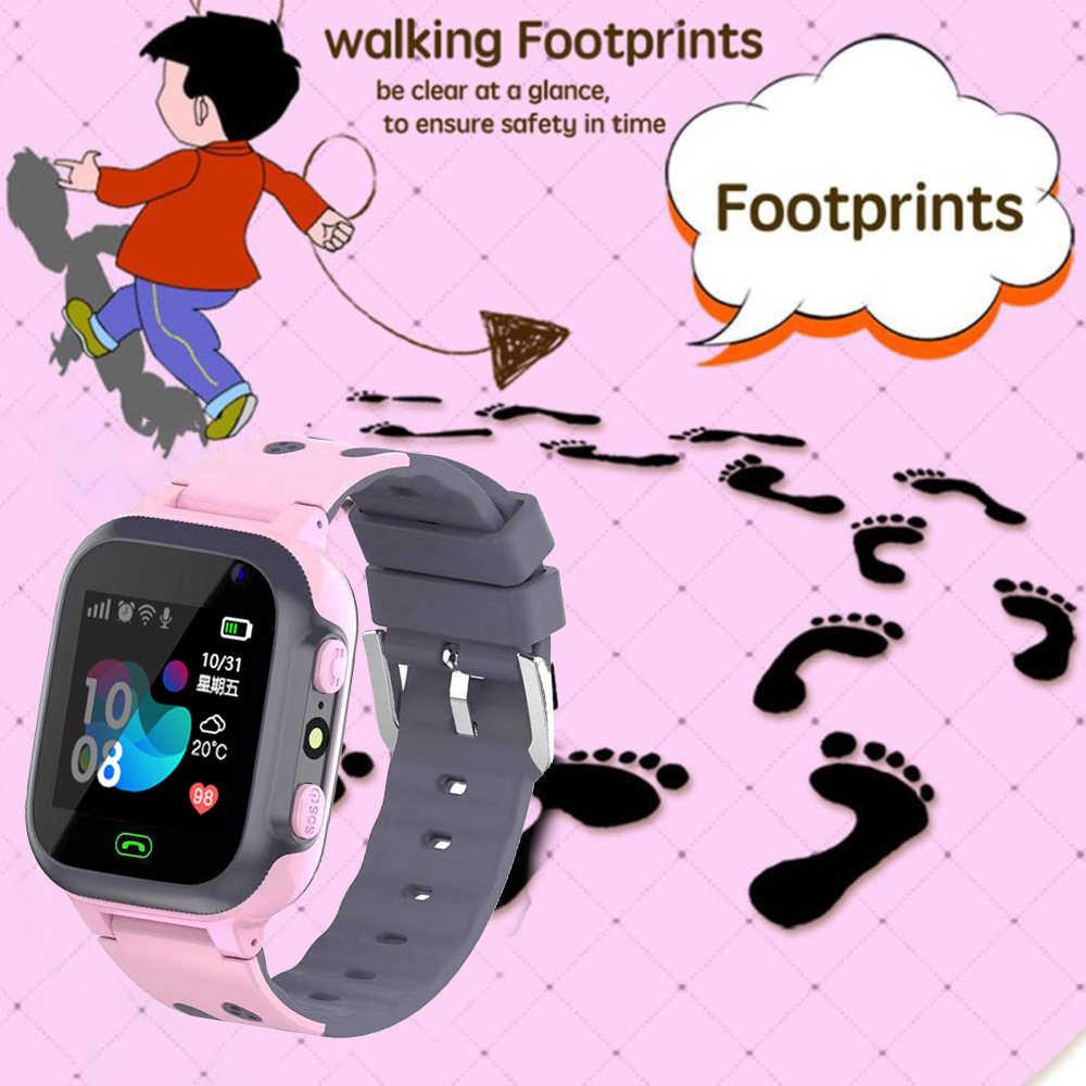 ييج جديد الاطفال ساعة ذكية للأطفال SmartWatch الطفل الساعات SOS مكالمة LBS مكتشف الموقع محدد تعقب مكافحة خسر رصد