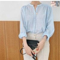 Рубашка с воротником-стойкой Цена 838 руб. ($10.80) | 10 заказов Посмотреть