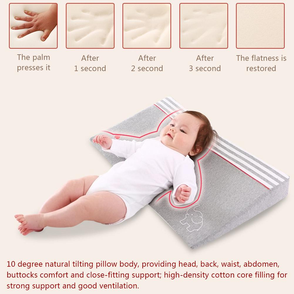 Waterproof Baby Wedge Pillow with 10 Degrees Tilt to Prevent Infants from Spitting and Drooling 4