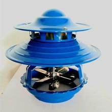 100W Chimney Fan Thickened Cast Iron Base Induced Draft Fan Double-layer 8 Blades Motor Heat Dustproof Durable High Power