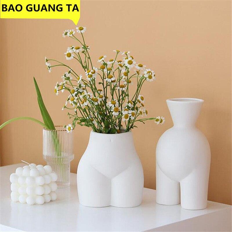 Bao Guang Ta Ceramics Woman Body Art Ass Figurines Body Art Vase Decoration Crafts Flower Vase Home Decoration Accessories R5276 Vases Aliexpress