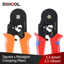 цена на Square and Hexagon Crimping Pliers Copper Tube Crimping Tool Set Tubular terminal Crimping Tools 23-7 AWG 6-4A/6-6A
