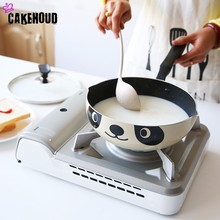 CAKEHOUD 20cm24cm26cm Panda Pot Japanese Style Induction Cooker Universal Frying Pan Non stick Aluminum Pot Frying Pan Stone Pot