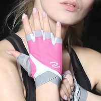 Professionelle Frauen fitness sport halb finger reiten gym yoga gewichtheben bodybuilding ausrüstung atmungsaktiv rutschfeste handschuhe