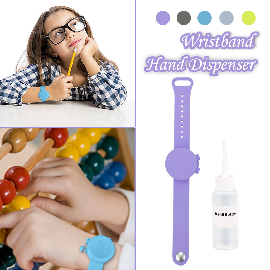 Hand Sanitizer Dispenser Silicone Wristbands