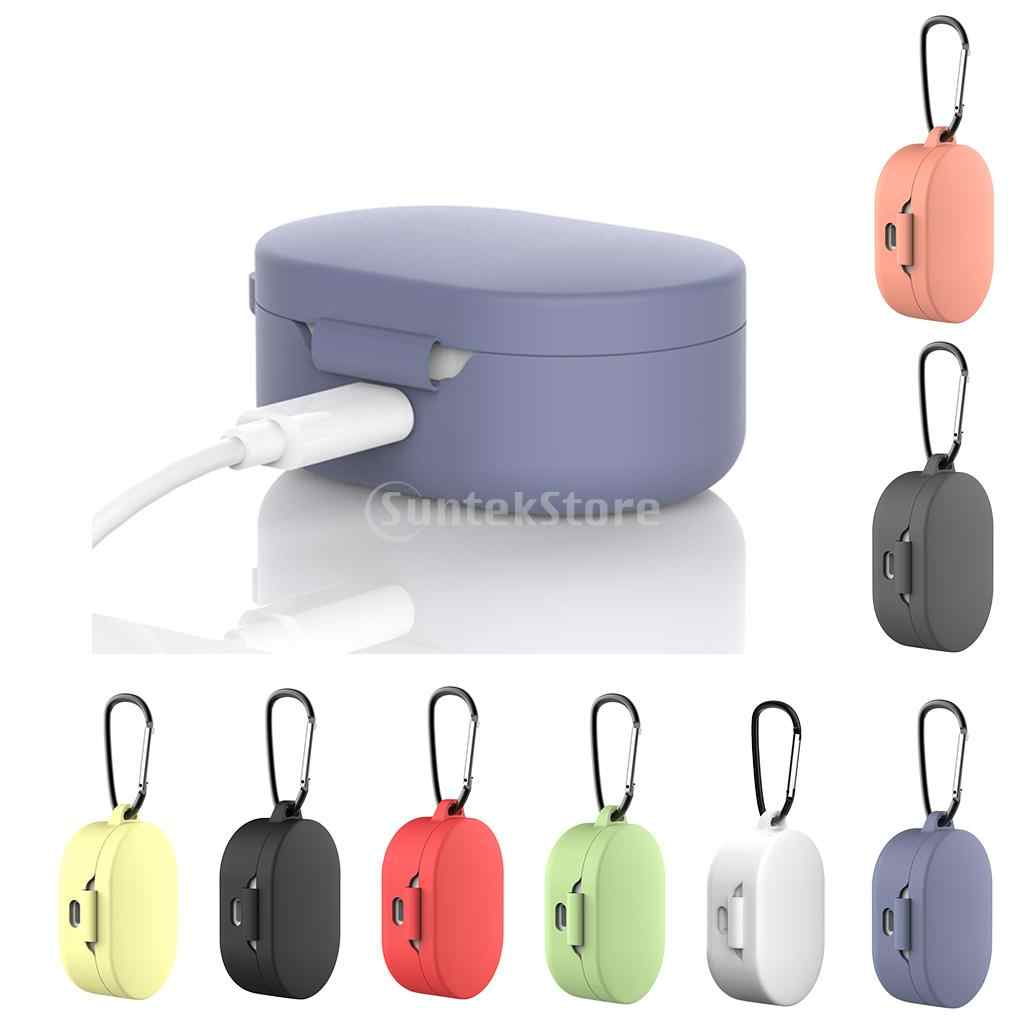 ใหม่ซิลิโคนป้องกันกรณีแหวนสำหรับ Xiao Mi Mi สีแดง Mi Airdots หูฟังหูฟัง Bluetooth หูฟังไร้สาย