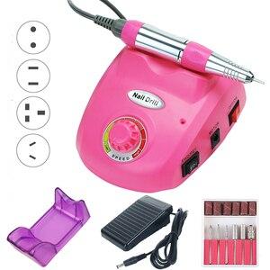 Image 2 - 35000/20000 RPM elektryczna wiertarka do paznokci zestaw urządzeń frez Manicure Pedicure taśmy szlifierskie zestaw zmywacz żelu do paznokci sprzęt