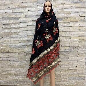 Image 5 - Foulards en coton pour femmes africaines, hijab doux, foulard pour femmes musulmanes, en vente BM819, tir réel!