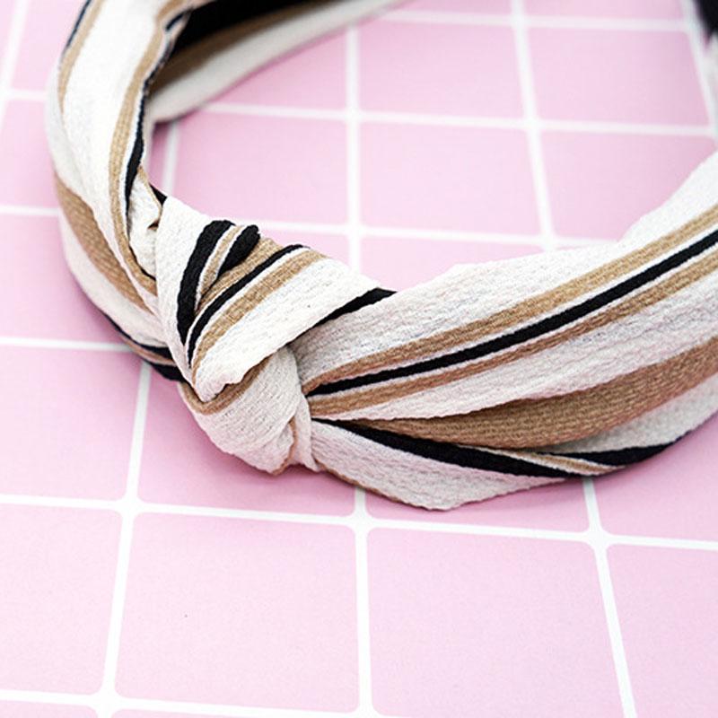 Купить женская новая полосатая повязка на голову эластичная модная