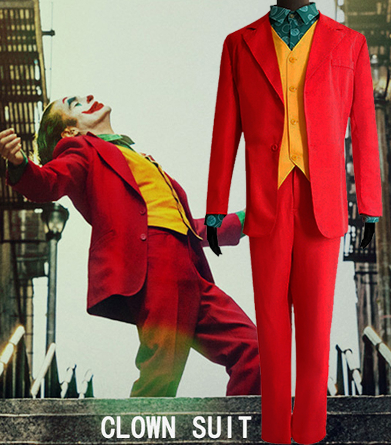 Joker Costume Movie Joker Arthur Fleck Cosplay Costume Batman Cosplay Fancy Carnival Halloween Costumes Red Suit