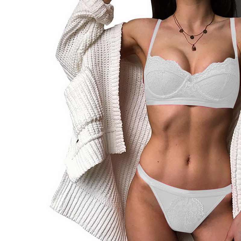 Seksi Renda Push Up Bra Set 2020 Baru Wanita Olahraga Underwear Set Bra Pakaian Dalam Wanita Wanita Gadis Adjustable Bralette
