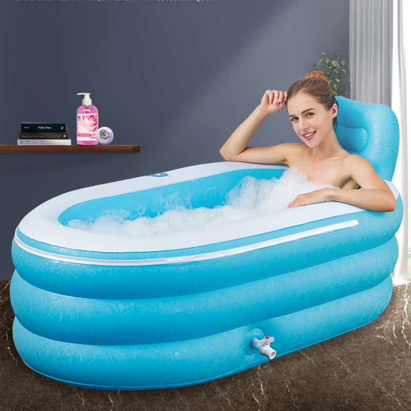 Inflatable Bathtub Thickened Adult Bathtub Collapsible Bathtub For Small Apartment Home Inflatable Float Relaxing Swimming Pool