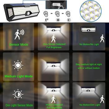Solar Powered Pfad Lichter LED Motion Sensor Solar Lampen Für Garten Wasserdichte Außen Beleuchtung Weiß Notfall Straße Wand Licht