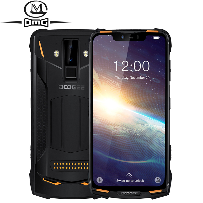 DOOGEE S90 Pro NFC IP68 shockproof Mobile Phone 6GB+128GB Android 9.0 5050mAh Helio P70 Octa Core 16MP+8MP 4G Rugged Smartphone