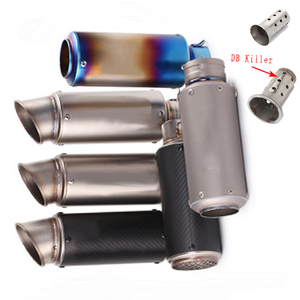 51MM 60MM Universal Motorcycle SC Exhaust Muffler Escape Moto Dirt Bike Scooter Exhaust DB killer For bws PCX 125 Free SHiPPING(China)