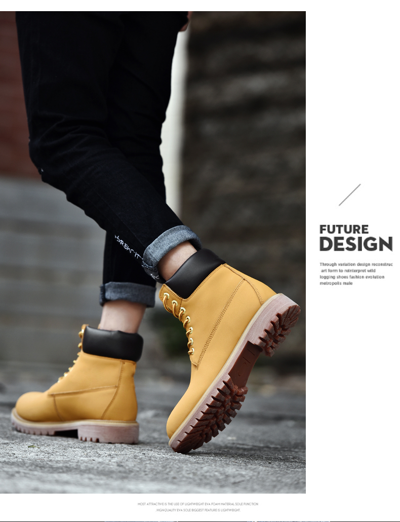 YT Shoes Vintage Leather Ankle Boots for Both Men and Women Fashion Short Boot Casual Flat Shoes