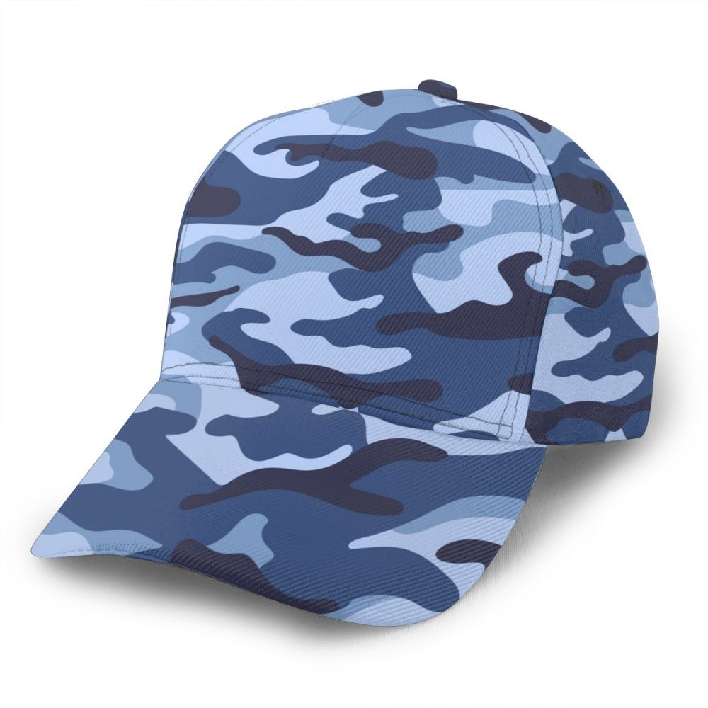 CINESSD Military Camouflage Blue Pattern Baseball Cap women men snapback caps Classic Style hat Casual Sport Outdoor cap