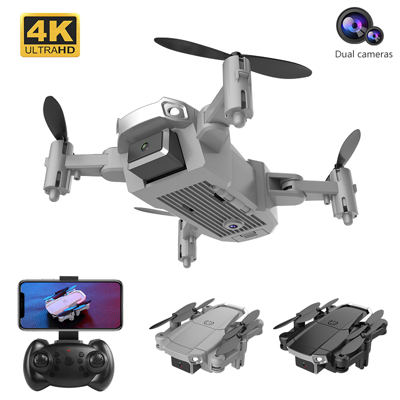 Willkey New RC Drone H6 WIFI FPV And Wide-angle High-definition 4K Dual Camera Height Keep Foldable Quadrotor Dron Gift Toy