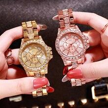 Women Watches Diamond Gold Watch Ladies Wrist Luxury Brand Rhinestone Women's Bracelet Female Relogio Feminino
