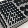 Caso De Armazenamento de Plástico Organizador Caixa Pequena Ferramenta Testador de bateria Removível Uso Doméstico Operação Simples Para AAA AA 9V C D Baterias