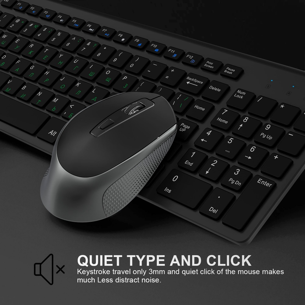 Russia Spain USA France Italy Germany Layout 2 4 GHz Ultra Thin Portable Wireless Keyboard Mouse
