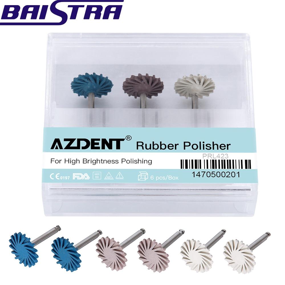 6pcs/pack Azdent Dental Composite Polishing DiamondSystem RA Disc Oral Hygiene Teeth Polishing Kits Spiral Flex Brush Burs